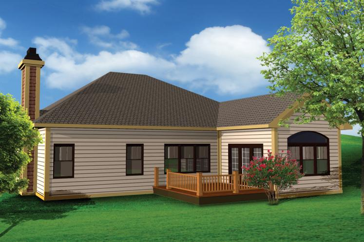 Classic House Plan -  68372 - Rear Exterior