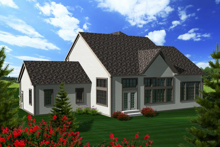 European House Plan -  68451 - Rear Exterior