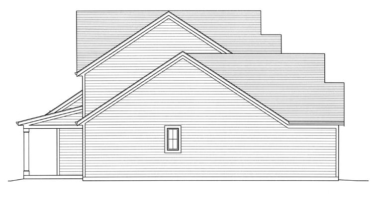 European House Plan - Chamberlain 68604 - Left Exterior