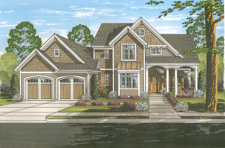 Farmhouse House Plan - Chamberlain 68604 - Front Exterior