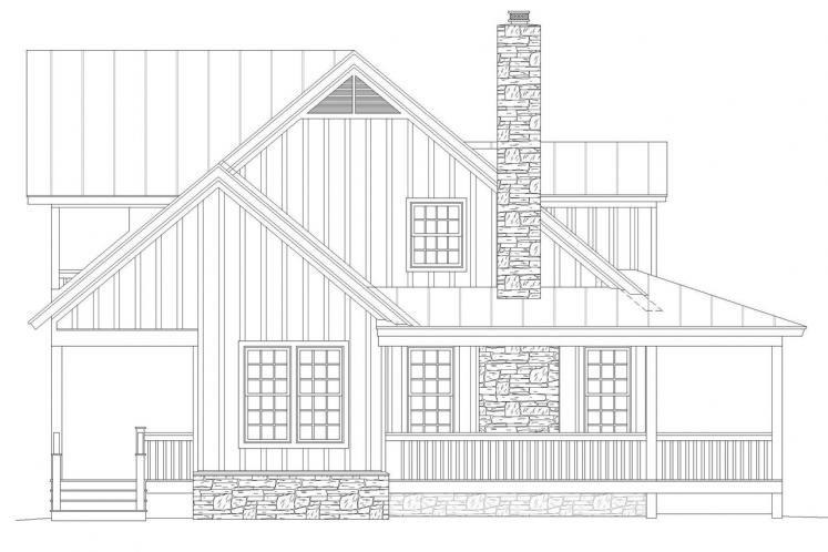 Farmhouse House Plan - Pea Ridge 68704 - Left Exterior