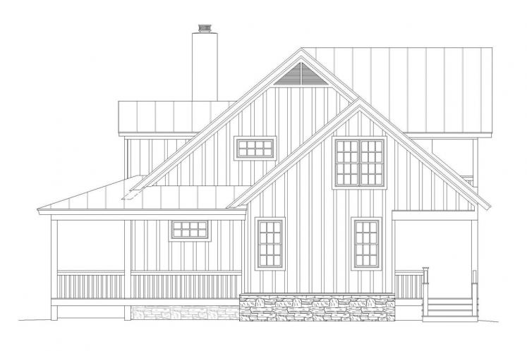 Country House Plan - Pea Ridge 68704 - Right Exterior