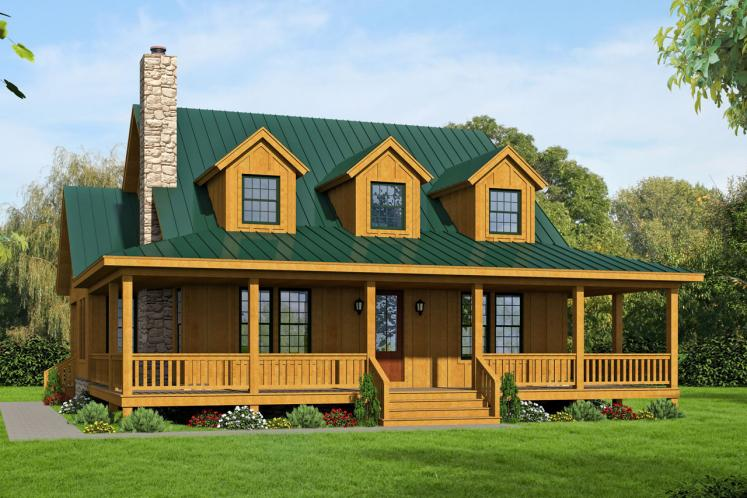 Country House Plan - Pea Ridge 68704 - Front Exterior