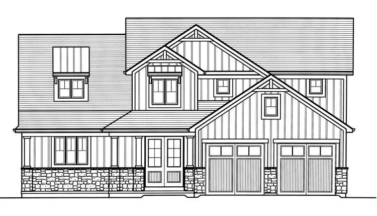 Craftsman House Plan - The Rainier 68765 - Front Exterior