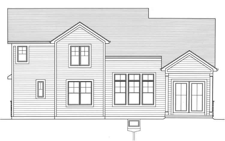 Country House Plan - The Rainier 68765 - Rear Exterior