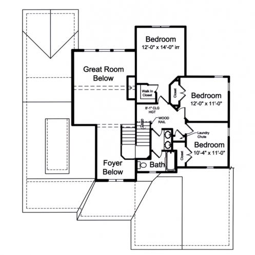 Contemporary House Plan - The Rainier 68765 - 2nd Floor Plan