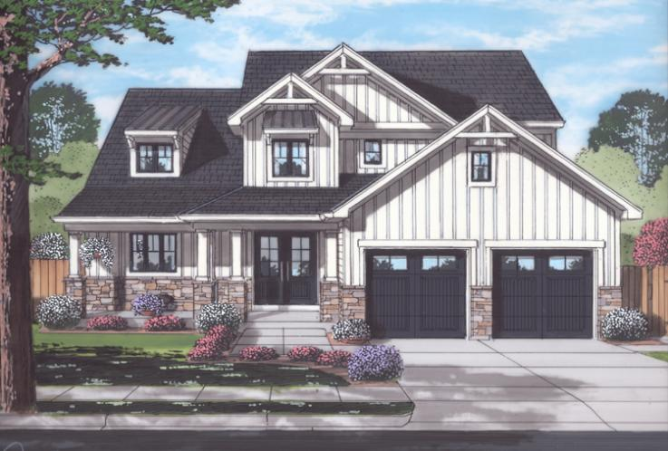 Contemporary House Plan - The Rainier 68765 - Front Exterior