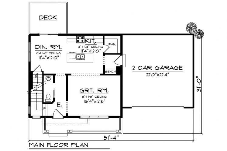 Farmhouse House Plan -  68889 - 1st Floor Plan