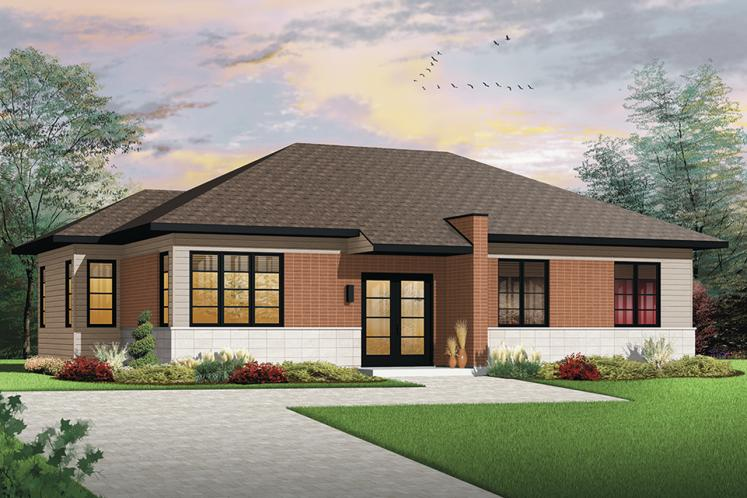 Ranch House Plan - Lotus 2 68957 - Front Exterior