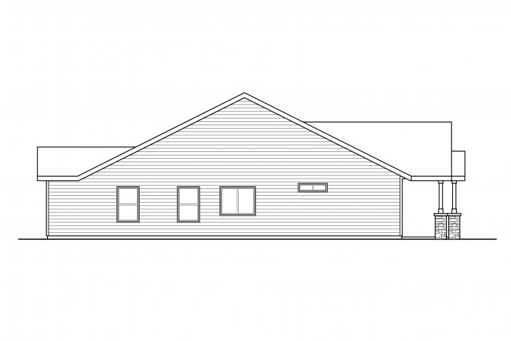 Cottage Multi-family Plan - Dewberry 69000 - Left Exterior