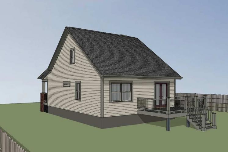 Country House Plan -  69008 - Right Exterior