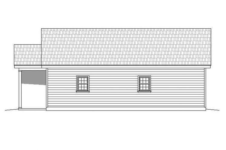 Cottage House Plan - Butler's Gin 69111 - Right Exterior