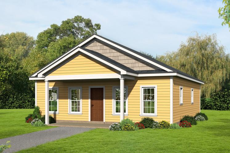 Cottage House Plan - Butler's Gin 69111 - Front Exterior