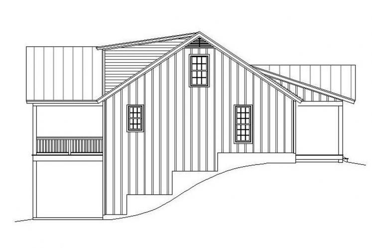 Ranch House Plan - Louisa Point 69208 - Left Exterior
