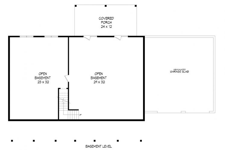 Ranch House Plan - Louisa Point 69208 - Basement Floor Plan