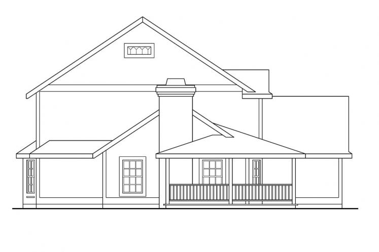 Country House Plan - Bristol 69331 - Left Exterior