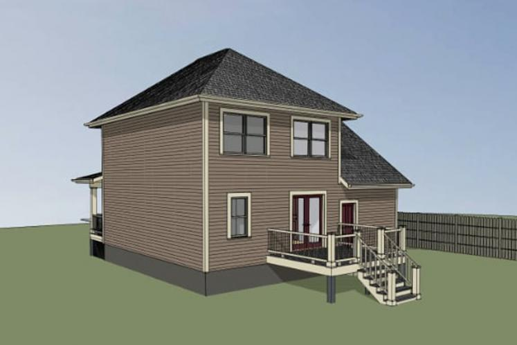 Traditional House Plan -  69422 - Right Exterior
