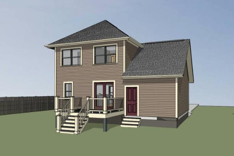Country House Plan -  69422 - Left Exterior
