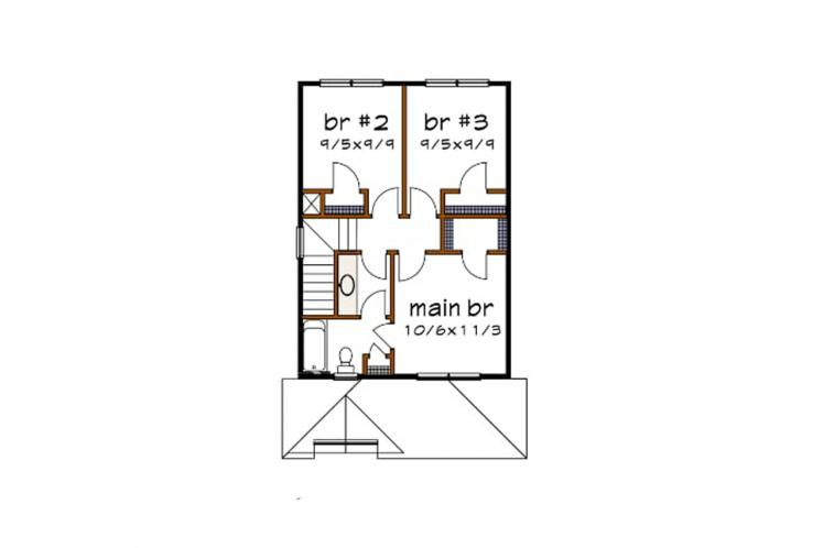 Country House Plan -  69422 - 2nd Floor Plan