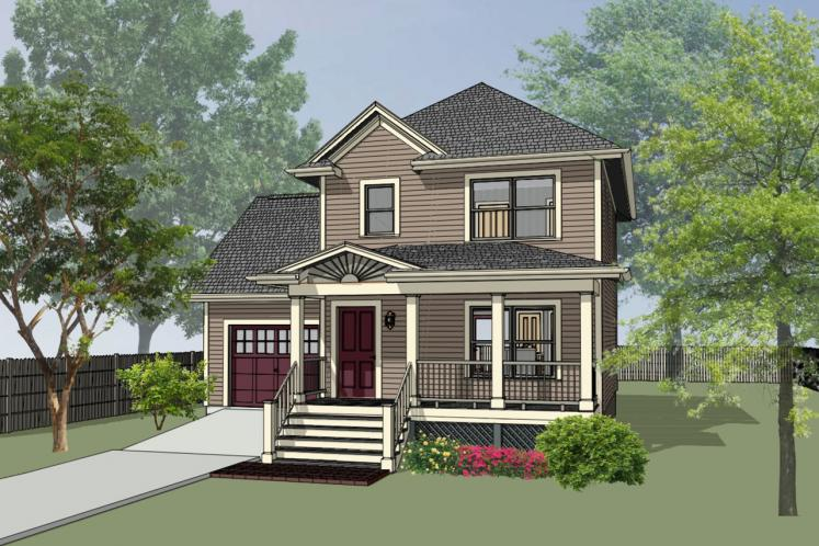 Craftsman House Plan -  69422 - Front Exterior