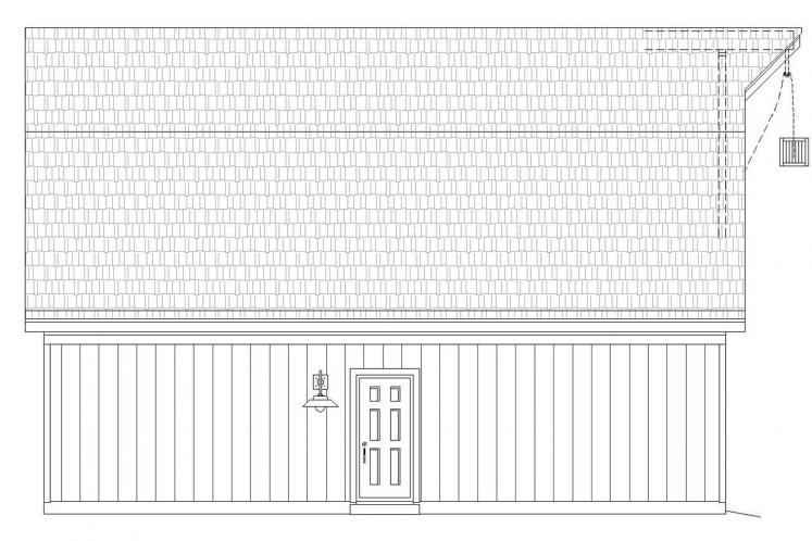Country Garage Plan -  69481 - Left Exterior