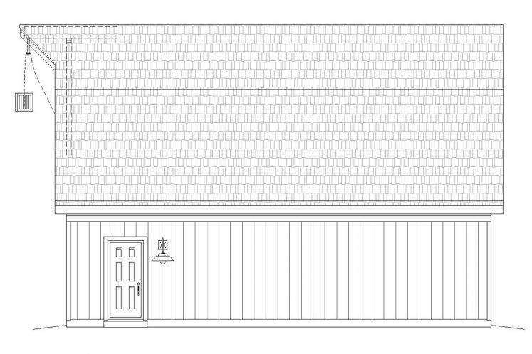 Farmhouse Garage Plan -  69481 - Right Exterior