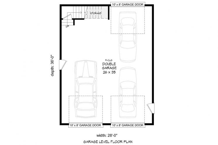 Country Garage Plan -  69481 - 1st Floor Plan