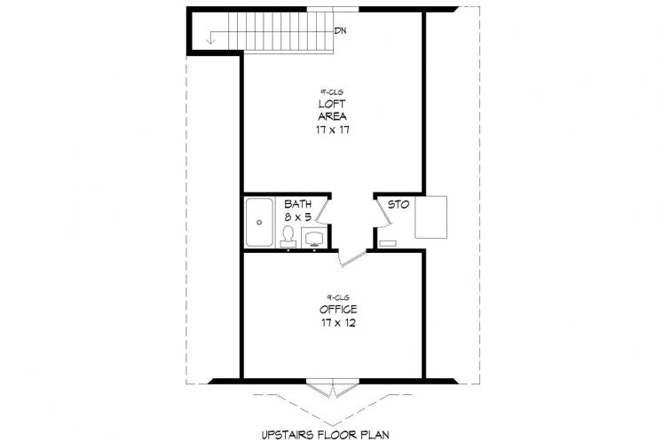 Farmhouse Garage Plan -  69481 - 2nd Floor Plan