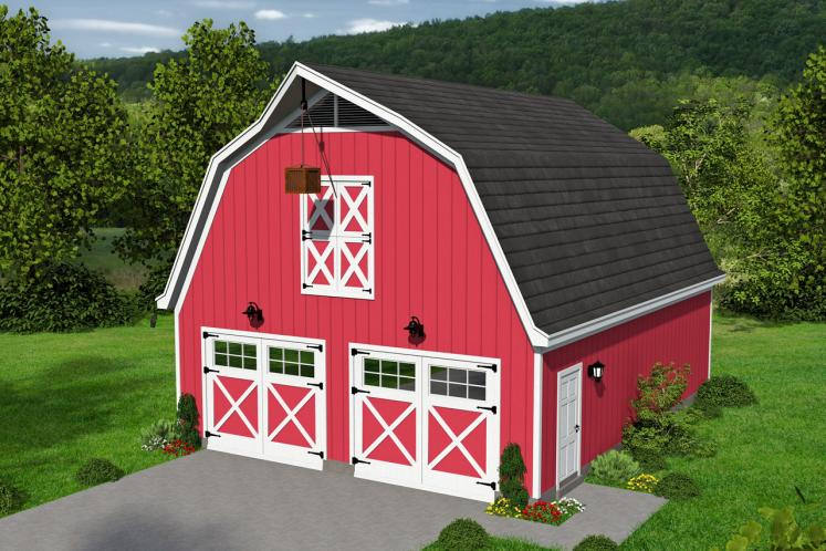 Country Garage Plan -  69481 - Front Exterior
