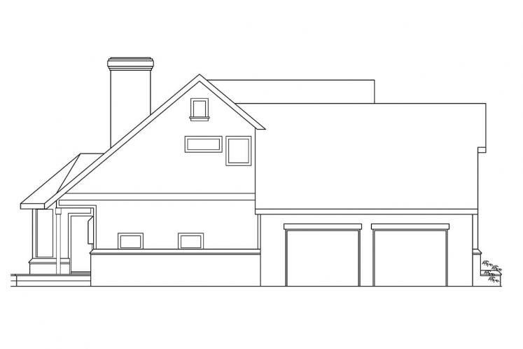 Traditional House Plan - Heartridge 69544 - Left Exterior