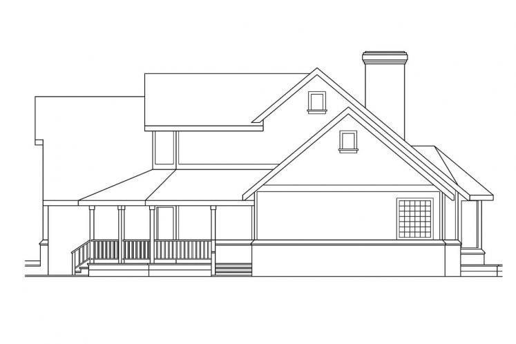 Country House Plan - Heartridge 69544 - Right Exterior