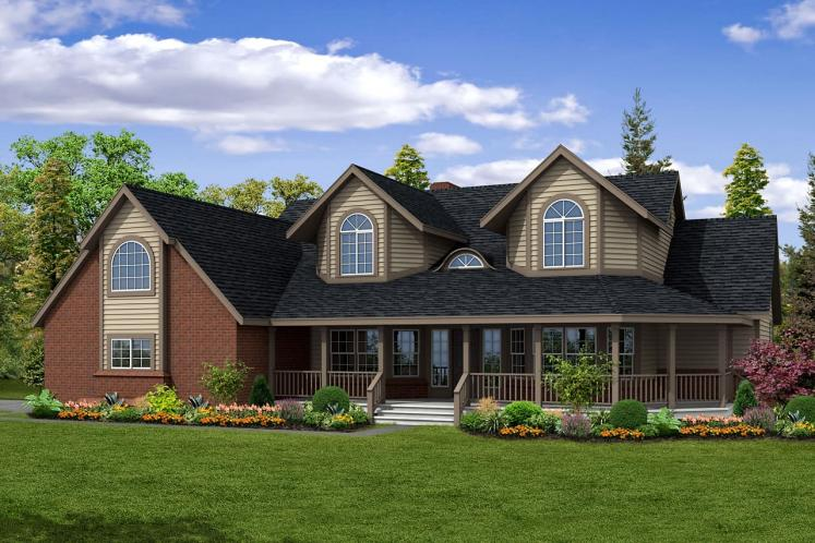 Country House Plan - Heartridge 69544 - Front Exterior