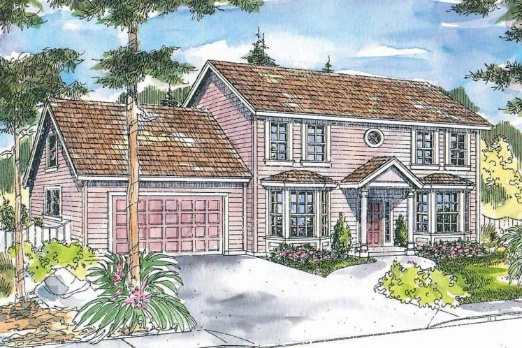 Colonial House Plan - Ellsworth 69558 - Front Exterior