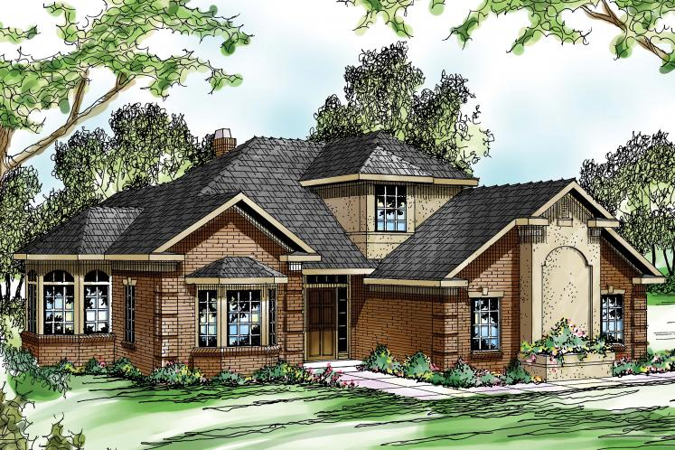 Traditional House Plan - Wichita 69561 - Front Exterior