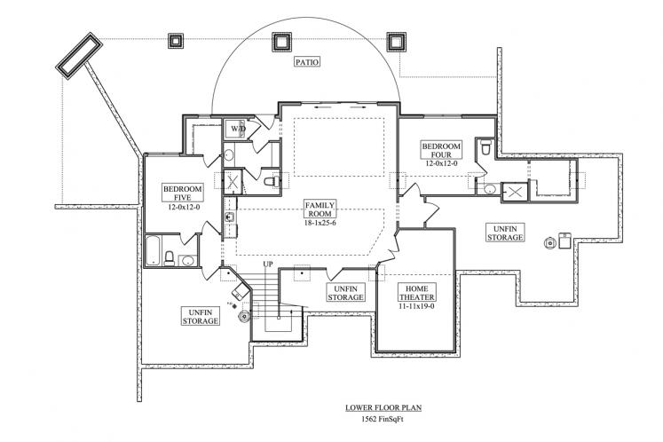 Bungalow House Plan - Rim Rock 69562 - Basement Floor Plan