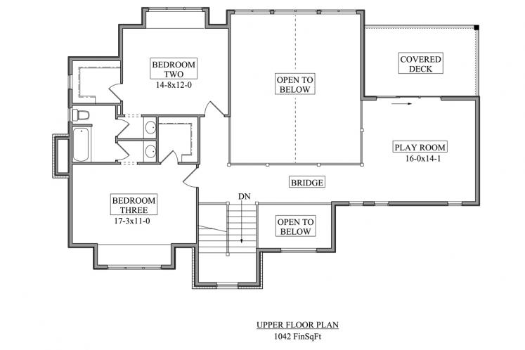 Craftsman House Plan - Rim Rock 69562 - 2nd Floor Plan