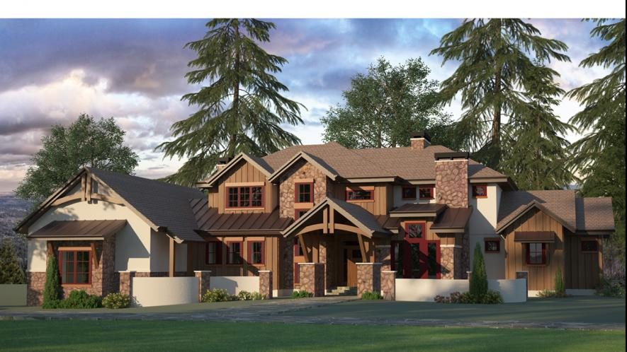Craftsman House Plan - Rim Rock 69562 - Front Exterior