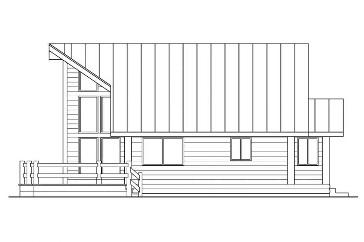 A-Frame House Plan - Sylvan 69634 - Right Exterior