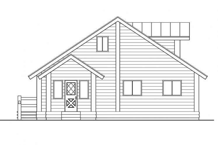 Cottage House Plan - Sylvan 69634 - Rear Exterior