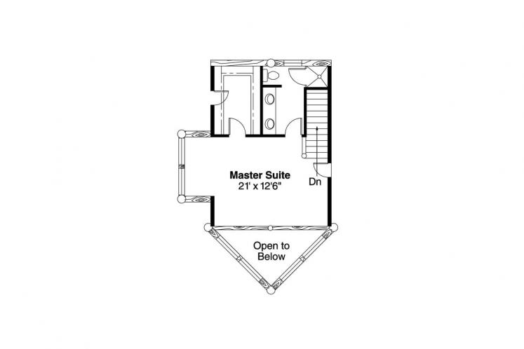 A-Frame House Plan - Sylvan 69634 - 2nd Floor Plan
