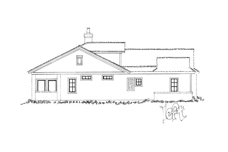 Ranch House Plan - Collingsworth 69636 - Left Exterior