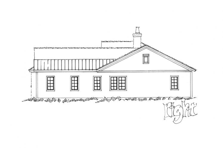 Traditional House Plan - Collingsworth 69636 - Right Exterior