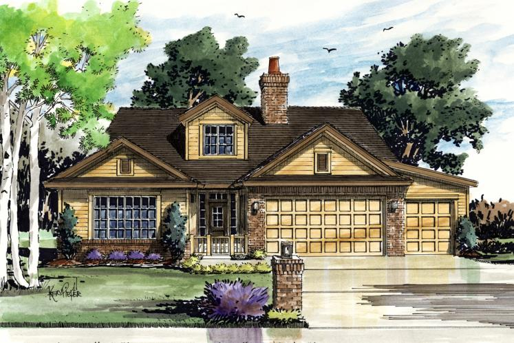 Ranch House Plan - Collingsworth 69636 - Front Exterior