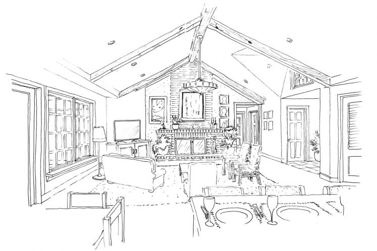 Traditional House Plan - Collingsworth 69636 - Great Room