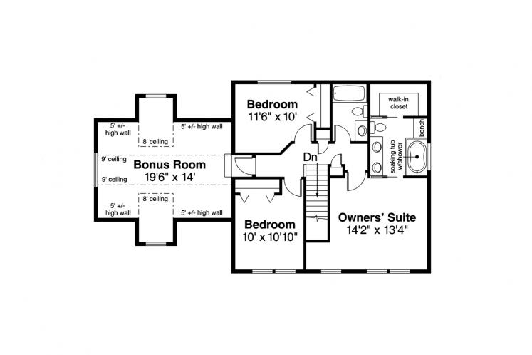Country House Plan - Adkins 69788 - 2nd Floor Plan