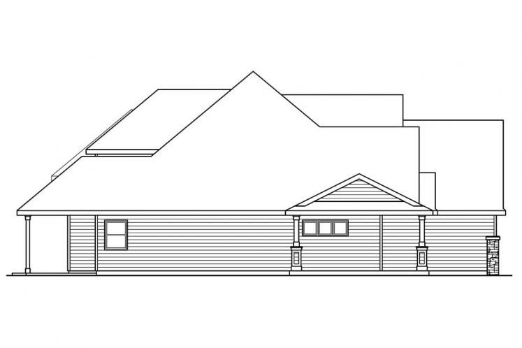 Traditional House Plan - Claredon 69798 - Left Exterior