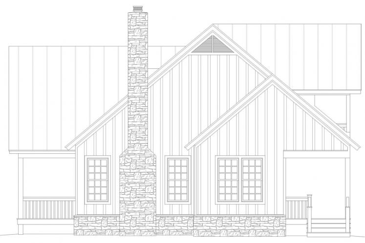 Country House Plan -  69808 - Right Exterior