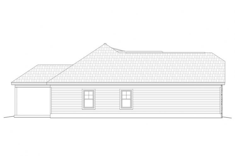 Ranch House Plan -  69838 - Left Exterior