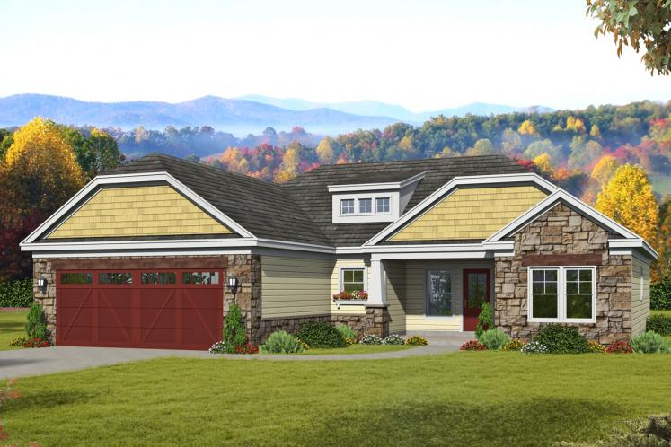 Ranch House Plan -  69838 - Front Exterior