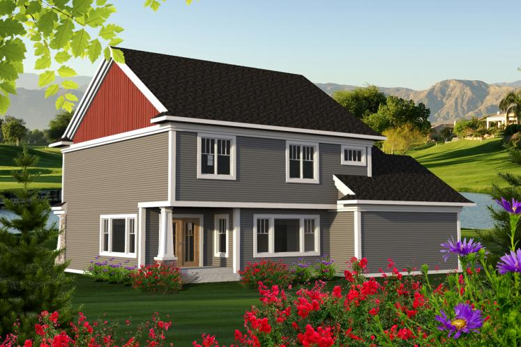 Craftsman House Plan -  69897 - Rear Exterior